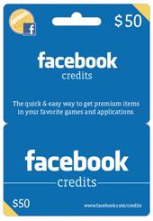 facebook credits gift card