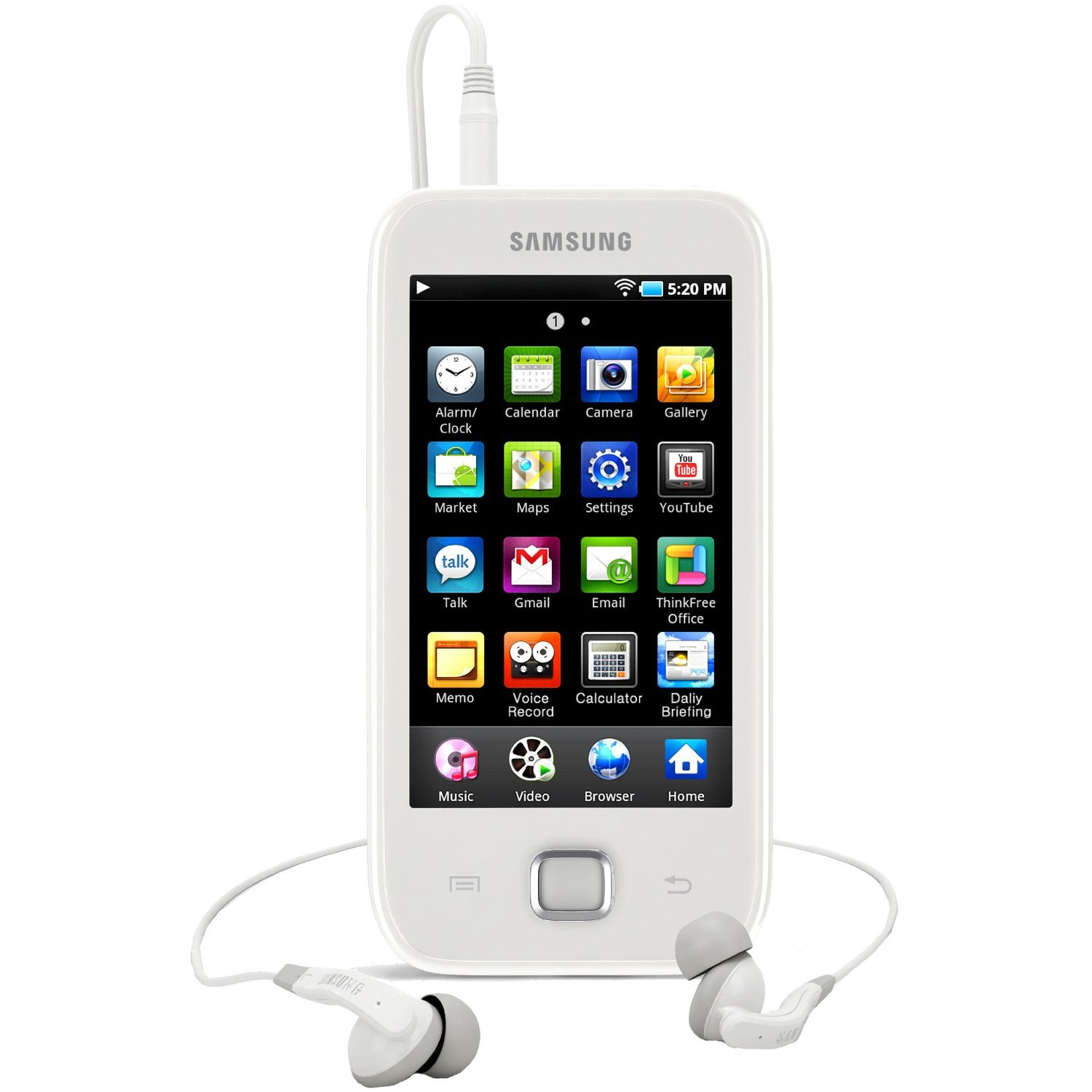Samsung Galaxy Player, the non-radio music only version of the Galaxy