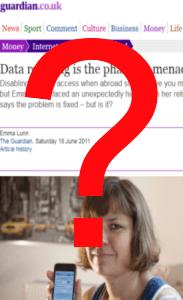 emma lunn guardian article on o2 data roaming screen