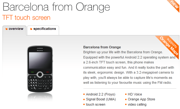orange barcelona now available on orange payg