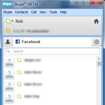 how to add facebook friends to skype