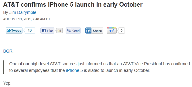 att confirms iphone5 launch in early october