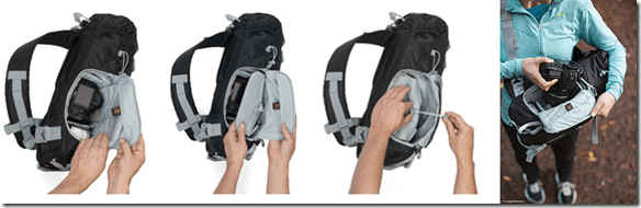lowepro patent-pending Ultra-Cinch Camera Chamber