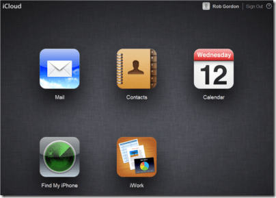 icloud control panel view