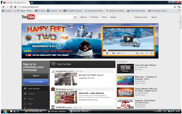 youtube redesign homepage