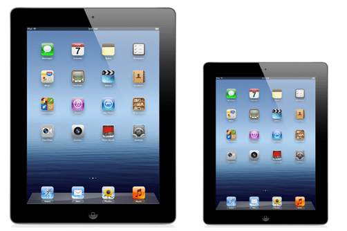 ipad mini mockup next to new ipad