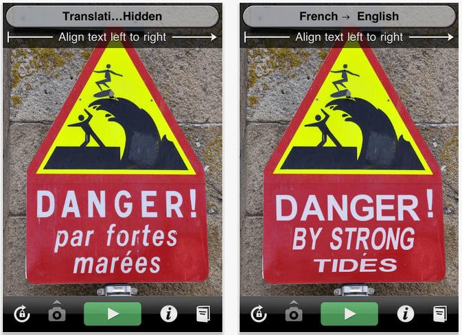 wordlens app screenshot on iphone