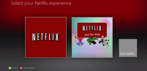 netflix just for kids on xbox