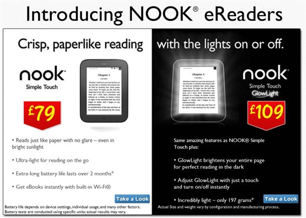 asda selling new nook ereaders