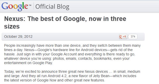 google announce nexus4 and nexus10 devices blog shot