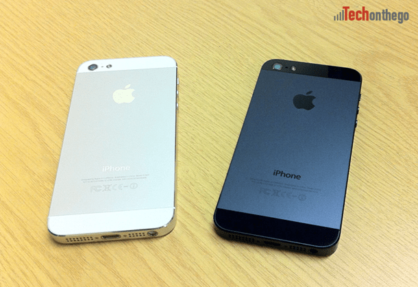 iphone5 white and black models back comparison