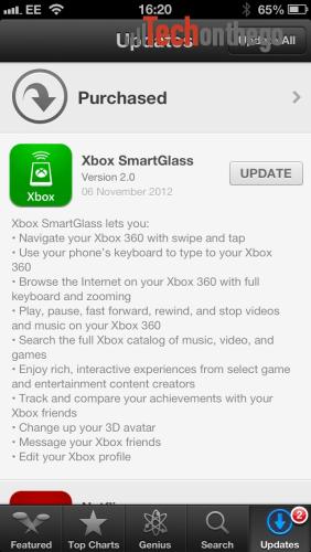 Xbox SmartGlass Now Available For iOS - Tech on the Go