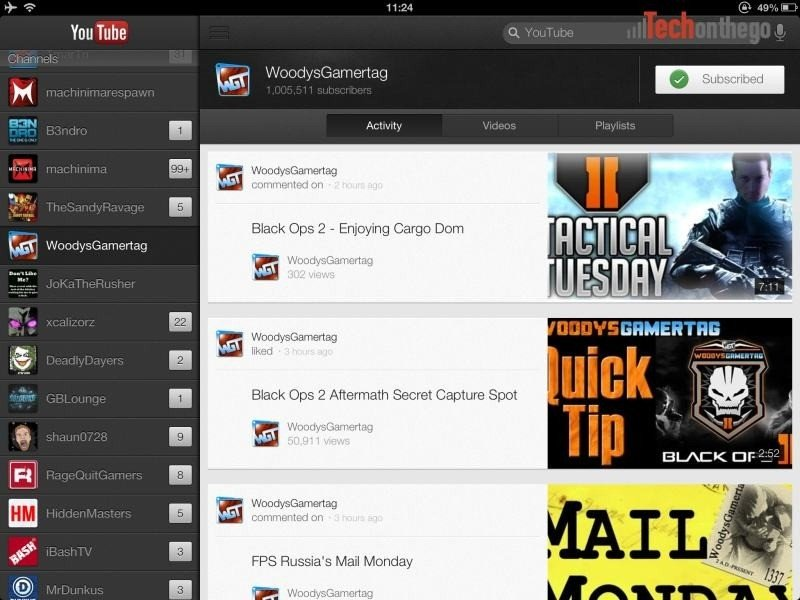YouTube Client Updated For iPad And iPhone5 - Tech on the Go