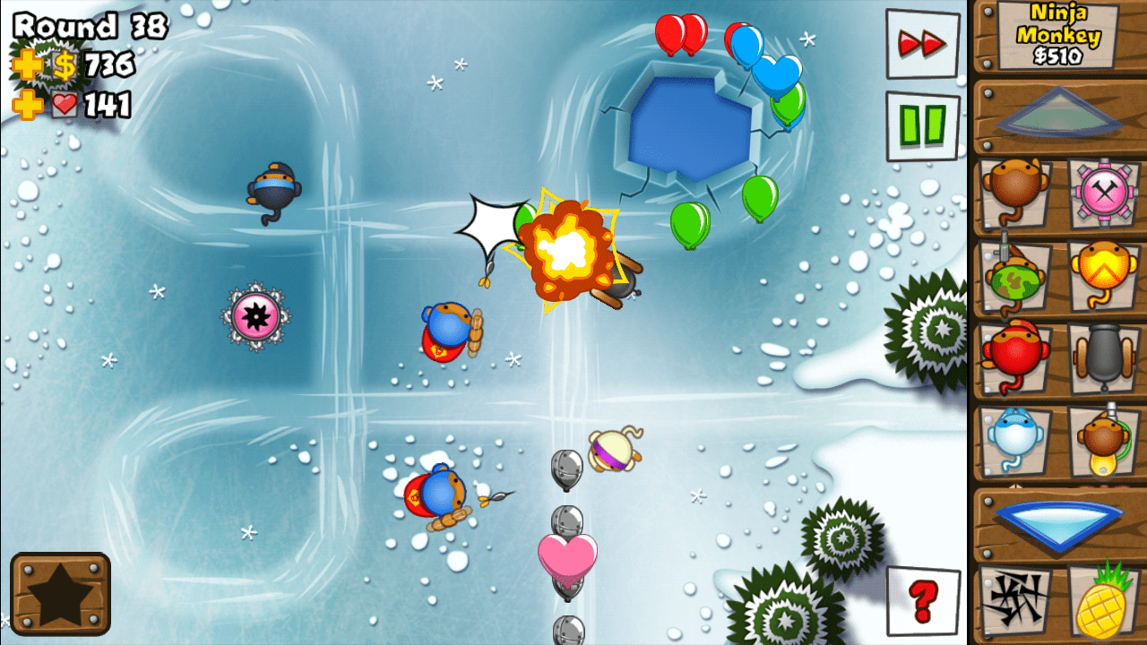 android game review bloons td5 from ninja kiwi tech on the go