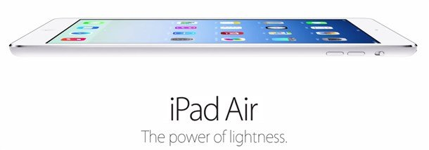 ipad air power of lightness