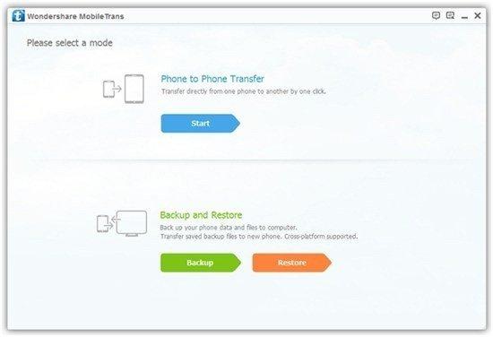 1-Click Phone Data Transfer with Wondershare MobileTrans