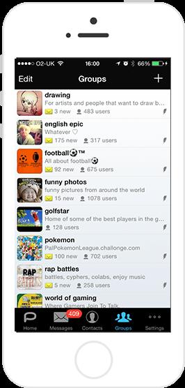 ios palringo screenshot