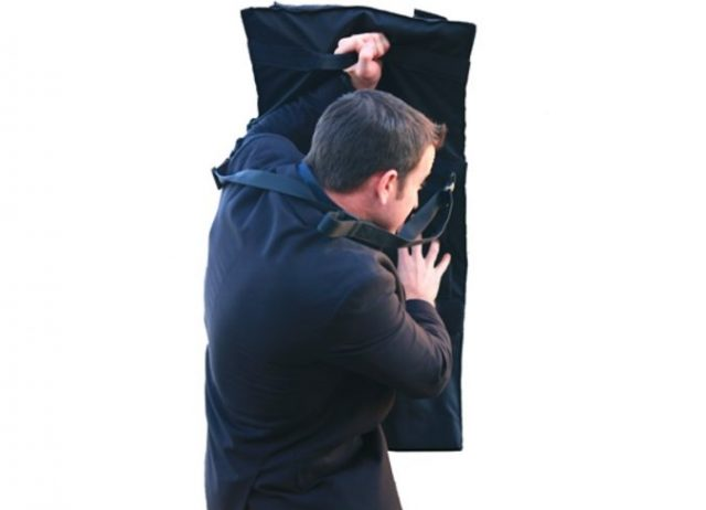 MTS - Multi Threat Shield bag - shield deployed