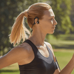 Denon AH-C160W Wireless In-Ear Sports headphones running