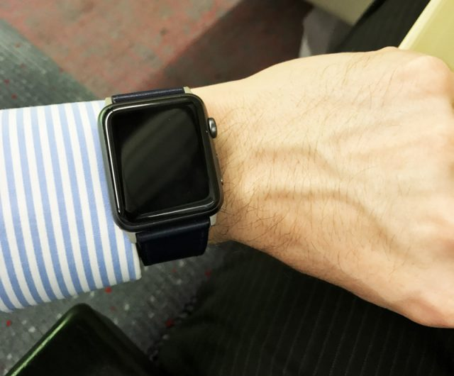 Noreve Apple Watch Leather Strap Review - Watch On Top View