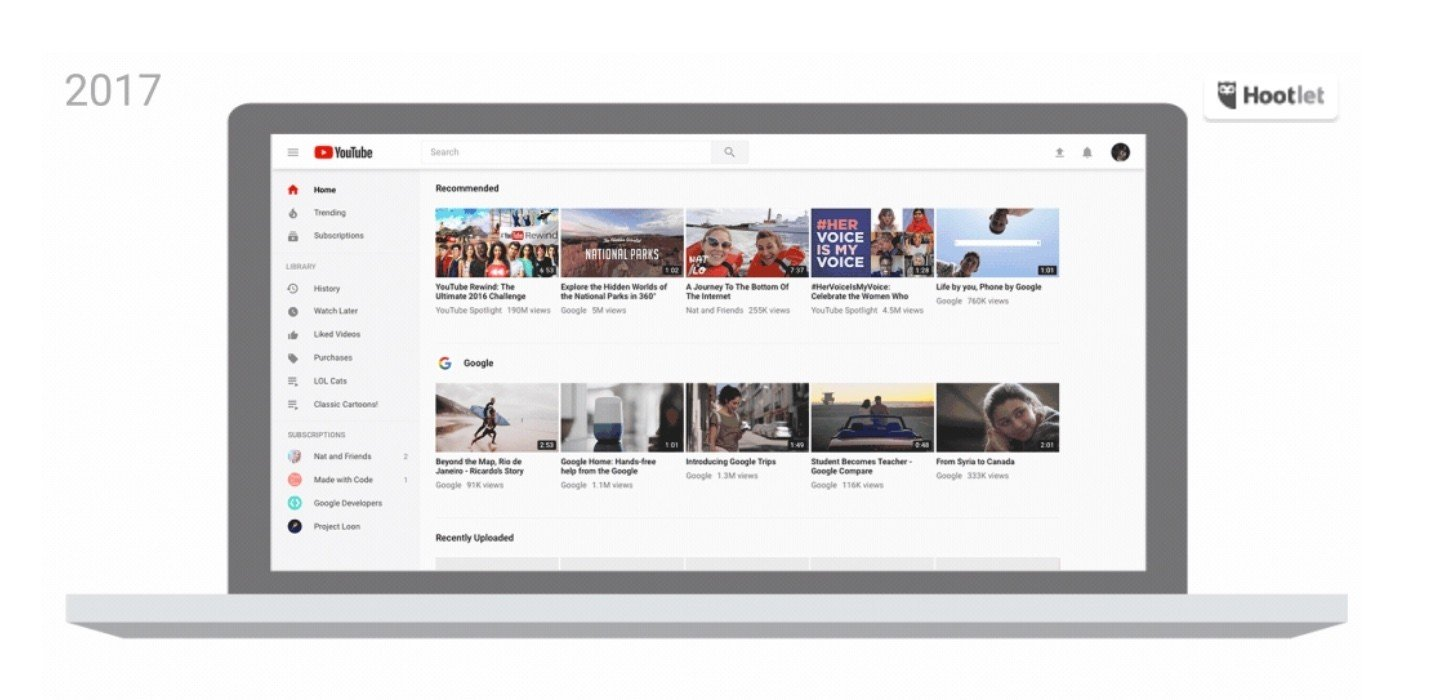 youtube 2017 design