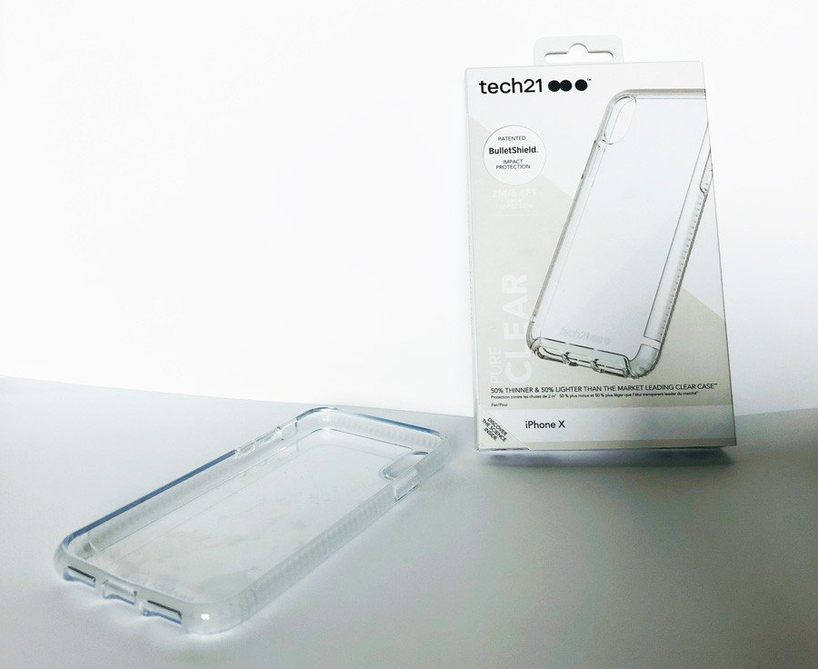 quality design a1ca7 6ee59 tech21 pure clear iphonex case and box - Tech on the Go