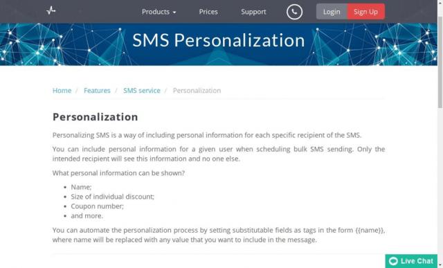 send pulse sms service