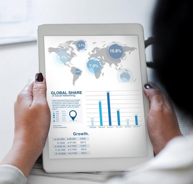 marketing data on a tablet