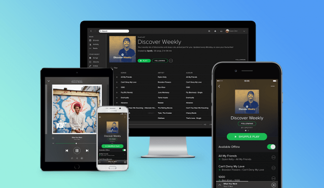 Spotify streaming music platform and devices