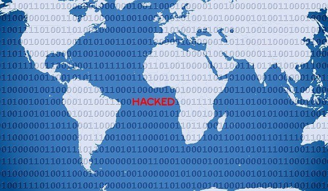 antivirus image hacked world