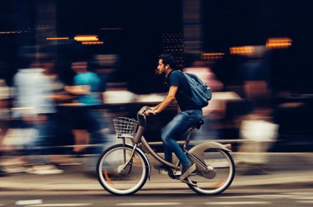 bike riding fast
