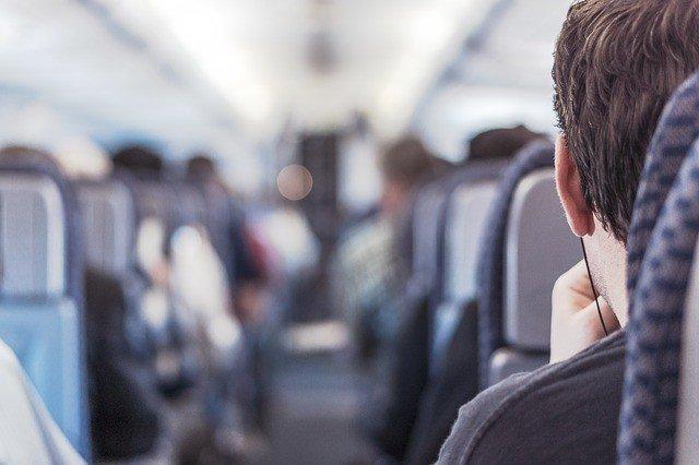 airplane passenger headphones